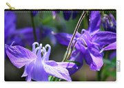 Blue Columbine Squared 3 Carry-all Pouch