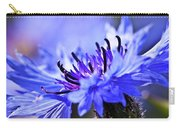 Blue Cornflower Bloom Carry-all Pouch