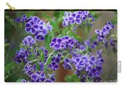 Blue Cottage Flowers Carry-all Pouch