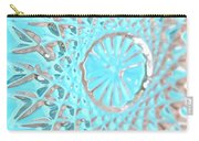 Blue Crystal Snowflake Carry-all Pouch