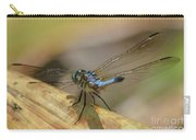 Blue Dasher On Old Leaf Carry-all Pouch