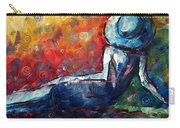 Blue Daze Original Madart Painting Carry-all Pouch