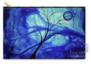 Blue Depth Abstract Original Acrylic Landscape Moon Painting By Megan Duncanson Carry-all Pouch
