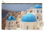 Blue Domed Churches Santorini Carry-all Pouch