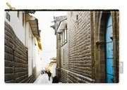 Blue Door In Cusco Carry-all Pouch by Darcy Michaelchuk