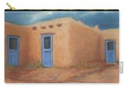 Blue Doors In Taos Carry-all Pouch by Jerry McElroy