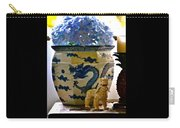 Blue Dragon And Hydrangeas Carry-all Pouch