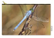 Blue Dragonfly Portrait Carry-all Pouch by Carol Groenen