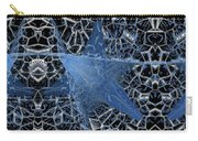 Blue Enmeshed Carry-all Pouch