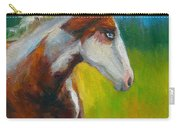 Blue-eyed Paint Horse Oil Painting Print Carry-all Pouch