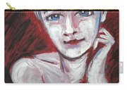 Blue Eyes - Portrait Of A Woman Carry-all Pouch