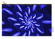 Blue Fantasy Floral Carry-all Pouch