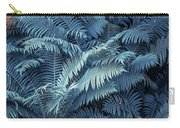Blue Fern Leaves Abstract. Nature In Alien Skin Carry-all Pouch
