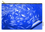 Blue Fish Abstract Carry-all Pouch