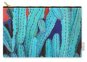 Blue Flame Cactus Acrylic Carry-all Pouch