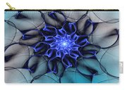 Blue Floral 083010 Carry-all Pouch