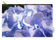 Blue Floral Art Prints Blue Hydrangea Flower Baslee Troutman Carry-all Pouch