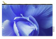 Blue Floral Begonia Carry-all Pouch