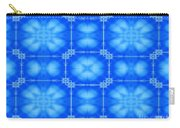 Blue Flowers Abstract Carry-all Pouch