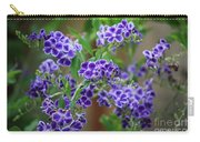 Blue Flowers Card Carry-all Pouch