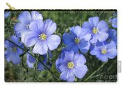 Blue Flowers In The Sun Carry-all Pouch