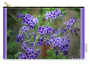 Blue Flowers With Colorful Border Carry-all Pouch