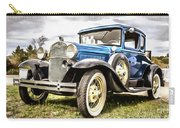 Blue Ford Model A Car Carry-all Pouch