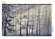 Blue Forest In Winter Carry-all Pouch