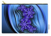 Blue Fractal Art Curved And Elegant Carry-all Pouch