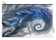 Blue Fractal Storm Carry-all Pouch