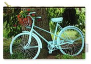 Blue Garden Bicycle Carry-all Pouch