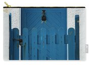 Blue Gate And Door On White House Carry-all Pouch