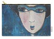 Blue Geisha Love Detail Carry-all Pouch