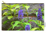 Blue Ginger At The Wall Carry-all Pouch