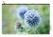 Blue Globe Thistle Flower Carry-all Pouch