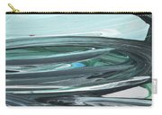 Blue Gray Brush Strokes Abstract Art For Interior Decor V Carry-all Pouch