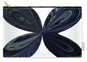 Blue, Green And Black Butterfly Astract Carry-all Pouch