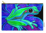 Blue Green Frog Carry-all Pouch