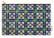 Blue Green Lisbon Tiles Souvenirs Carry-all Pouch