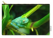 Blue-green Tropical Frog Carry-all Pouch