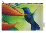 Blue-headed Hummingbird Carry-all Pouch
