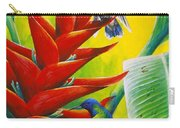 Blue-headed Hummingbirds And Heliconia Carry-all Pouch