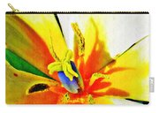 Blue Heart Of The Tulip Carry-all Pouch