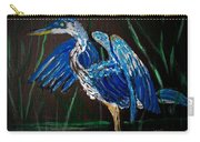 Blue Heron At Night Carry-all Pouch