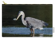 Blue Heron - Fish By The Tail Carry-all Pouch