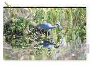 Blue Heron Fishing In A Pond In Bright Daylight Carry-all Pouch