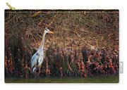 Blue Heron In The Cypress Knees Carry-all Pouch