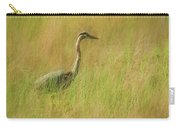 Blue Heron In The Grass. Carry-all Pouch