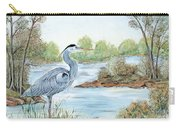 Blue Heron Of The Marshlands Carry-all Pouch