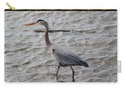 Blue Heron  On The Lake Carry-all Pouch